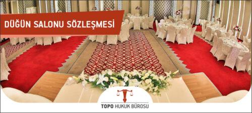 Düğün Salonu Sözleşmesi